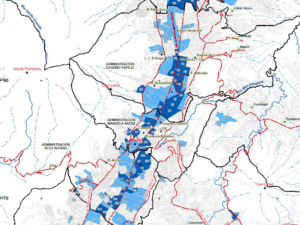 municipio de quito mapa