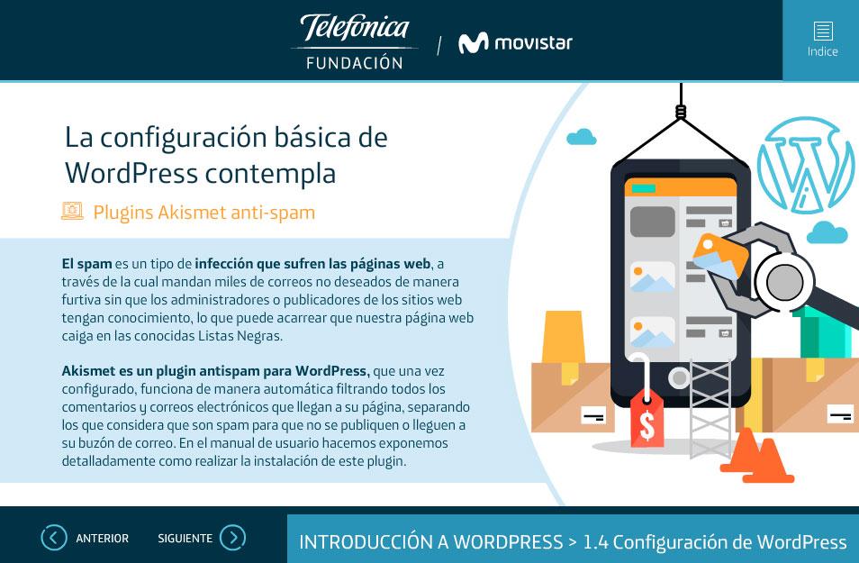 elearning gestion contenidos fundacion telefonica quito wordpress configuracion basica