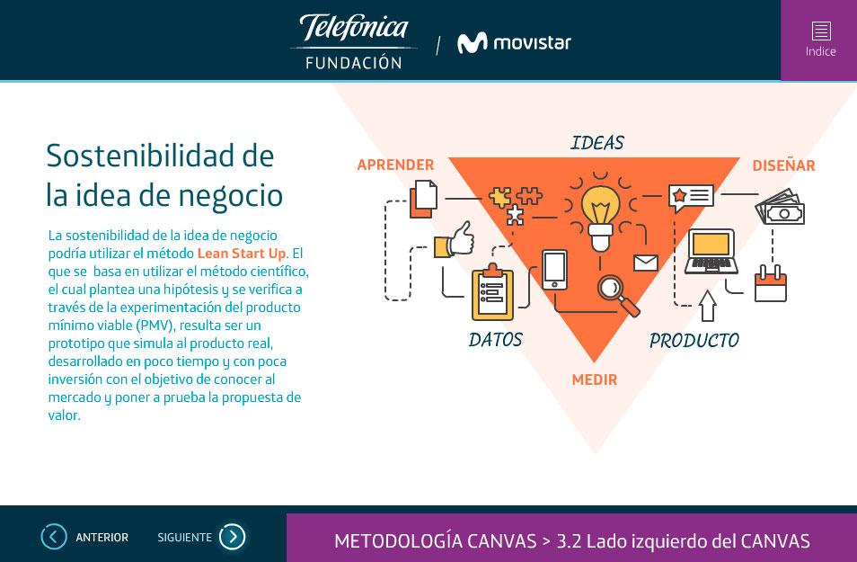 elearning telefonica sostenibilidad de la idea de negocio quito ecuador