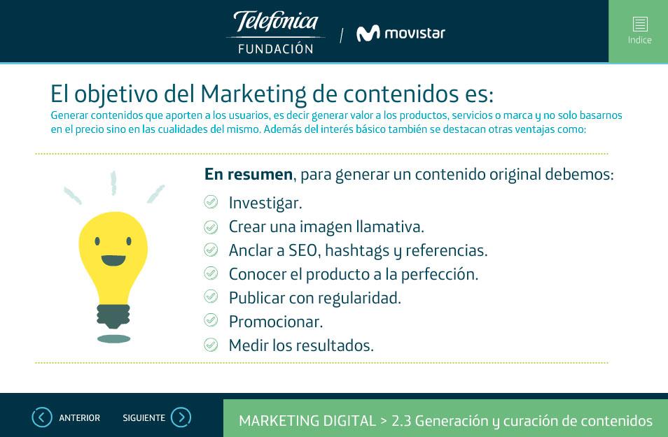 elearning marketing digital fundacion telefonica quito marketing contenidos