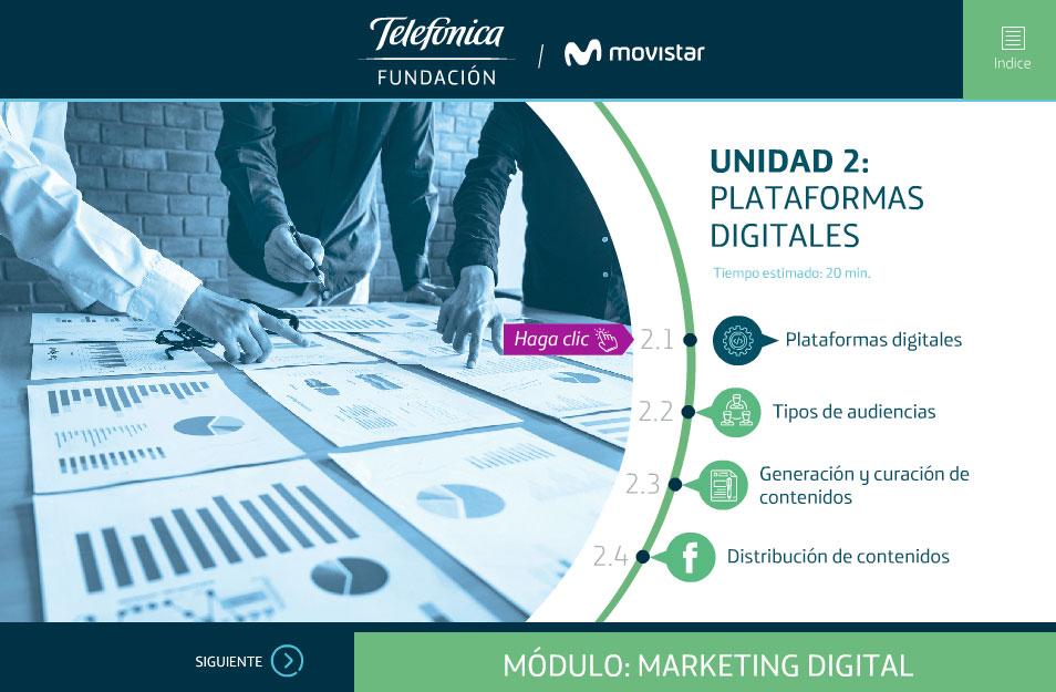 elearning marketing digital fundacion telefonica quito plataformas digitales