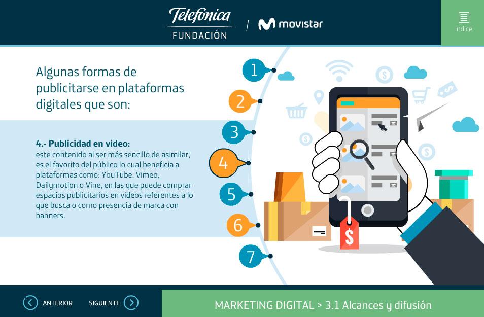 elearning marketing digital fundacion telefonica quito publicidad en videos