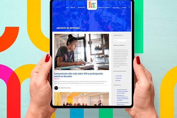 portada Comunidades Respondiendo al VIH pagina sitio web quito ecuador