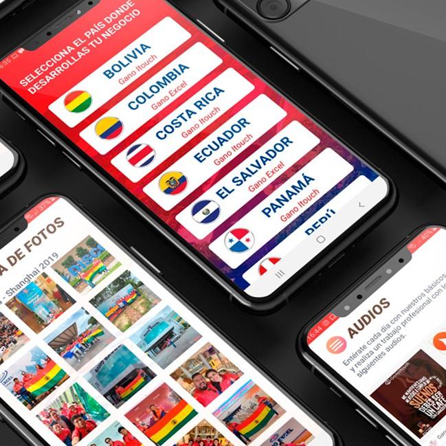 portada app ganoitouch latinoamerica react native android ios